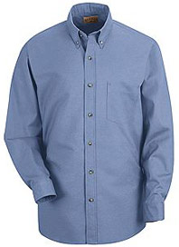 Red Kap Men's Long Sleeve Poplin Dress Shirt