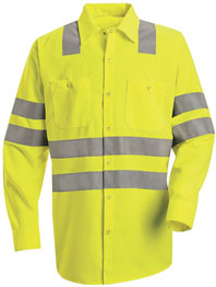 Hi-Visibility Long Sleeve Work Shirt - Type R, Class 3