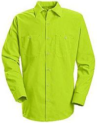 Red Kap Enhanced Visibility Long Sleeve Work Shirt