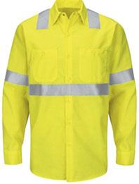 Hi-Visibility Long Sleeve Ripstop Work Shirt - Type R, Class 2