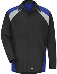 Red Kap Tri-Color Long Sleeve Shop Shirt