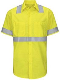 Hi-Visibility Short Sleeve Ripstop Work Shirt - Type R, Class 2