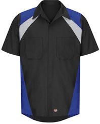 Red Kap Tri-Color Short Sleeve Shop Shirt