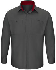 Men's Long Sleeve Performance Plus Shop Shirt W/Oil-Block Technology