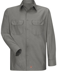 Red Kap Men's Solid Ripstop Work Shirt