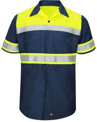 Hi-Visibility Short Sleeve Color Block Work Shirt - Type O, Class 1