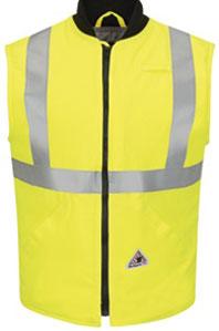 Bulwark Flame Resistant Hi-Viz Insulated Vest W/Reflective Trim