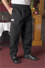 Blended Baggy Chef Pant with Zip Fly